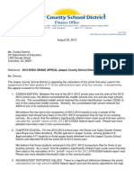 """Jasper County School District's appeal of its """"F"""" grade on federal accountability standards"""
