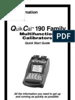 QuikCal 190 Quick Start