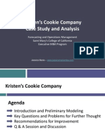 solution for kristen s cookie company a case 9 686 093 Case study on kristen cookie company operations case study please do consider the burned cookie scenario which is no included in the case 2 introduction • kristen and roommate opening a cookie company and provide fresh baked cookies to students.