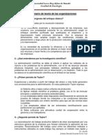 Cuestionario de teoría de las organizaciones