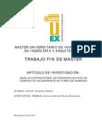 ANÁLISIS ESTRUCTURAL DE FORJADOS MIXTOS DE COMPOSITE COLABORANTE DE FIBRA DE CARBONO