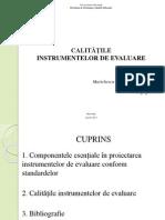 Calitatile Instrumentelor de Evaluare - 24.04.2013