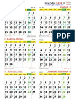 Kalender 1434 H