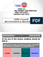 Lecture Topic 6 - Recognition and Measurement (PartB)