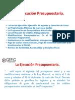 Presentación III La Ejecución Presupuestaria