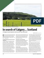 In search of Calgary...Scotland