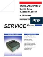 Samsung Digital Laser Printer ML-2850 Series ML-2850D ML-2851ND Parts and Service Manual