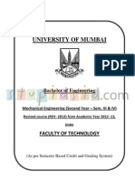 Mechanical Engineering revised syllabus