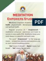 Meditation Empowers Students