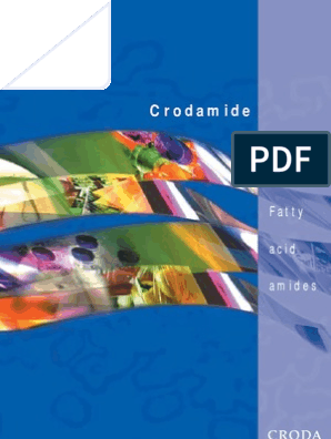 Crodamide Brochure 2007   Friction   Lubricant