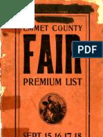 Emmet County Fair Premium List 1908