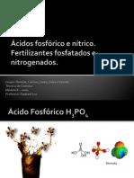 Ácidos fosfórico e nitrico