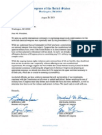 Letter to President Obama Calling for Consultation with Congress Before Military Intervention in Syria