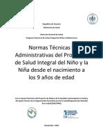 Normas Técnicas y Administrativas del Programa
