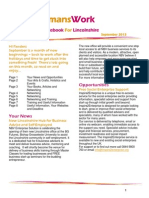 WomansWork Notebook for Lincolnshire September 2013