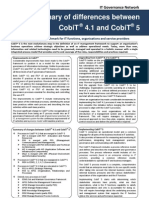 Summary of Differences Between CobiT 4 1 and CobiT 5 2012 IT Governance Network