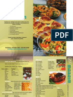 Banquetes Maraim - Menu