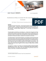 W. Wagner - DSF Policy Briefs 10.01.2012 - Eurobonds Are Likely to Increase the Risk of Joint Defaults in the Eurozone.