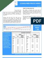 Consumer Price Index - July 13