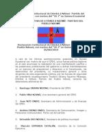 """Declaración institucional de Etômbâ â Ndôwé- Partido del Pueblo Ndowé, con motivo del """"25-J"""" en Guinea Ecuatorial"""