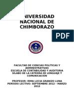 Silabo Contab. y Auditoria Lenguaje y Comunicacion