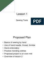 Sewing - Slides - Set 1