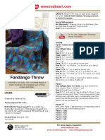 Fandango Throw Crochet Pattern