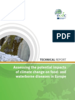 European Centre for Disease Prevention and Control. Assessing the potential impacts of climate change on food- and waterborne diseases in Europe. Stockholm