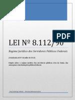 Lei nº 8112-90 - Regime Jurídico Servidores Federais - atualizada até 07 julho 2013(10X)