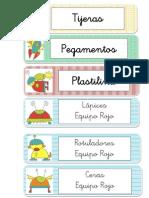 Etiquetas Del Espacio