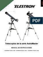 Celestron AstroMaster Telescopes, Models 21062, 31035, 31042. Spanish