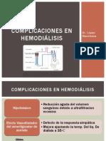Complicaciones en hemodiálisis