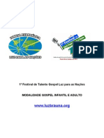 1º FESTIVAL DE TALENTOS LUZ PARA AS NAÇÕES