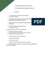 Programa de Mejoramieto Genetico Forestal