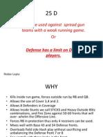 25 Base Defense for American Football
