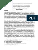 Declaracion de Foz Do Iguazu