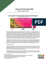 Boletín 051_ 31 de agosto_ Gran Jornada de Vacunación Nacional