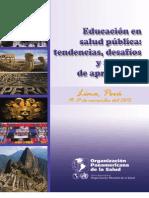 Informe Educacion Salud Publica Lima Nov2012