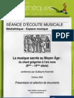 LA MUSIQUE SACRÉE AU MOYEN ÂGE