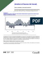 Emploi, rémunération et heures de travail, juin2013, Statistique Canada
