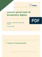 Gestão e preservação de documentos digitais