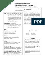 Newsletter 8-29-13