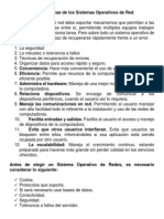 Características de los Sistemas Operativos de Red