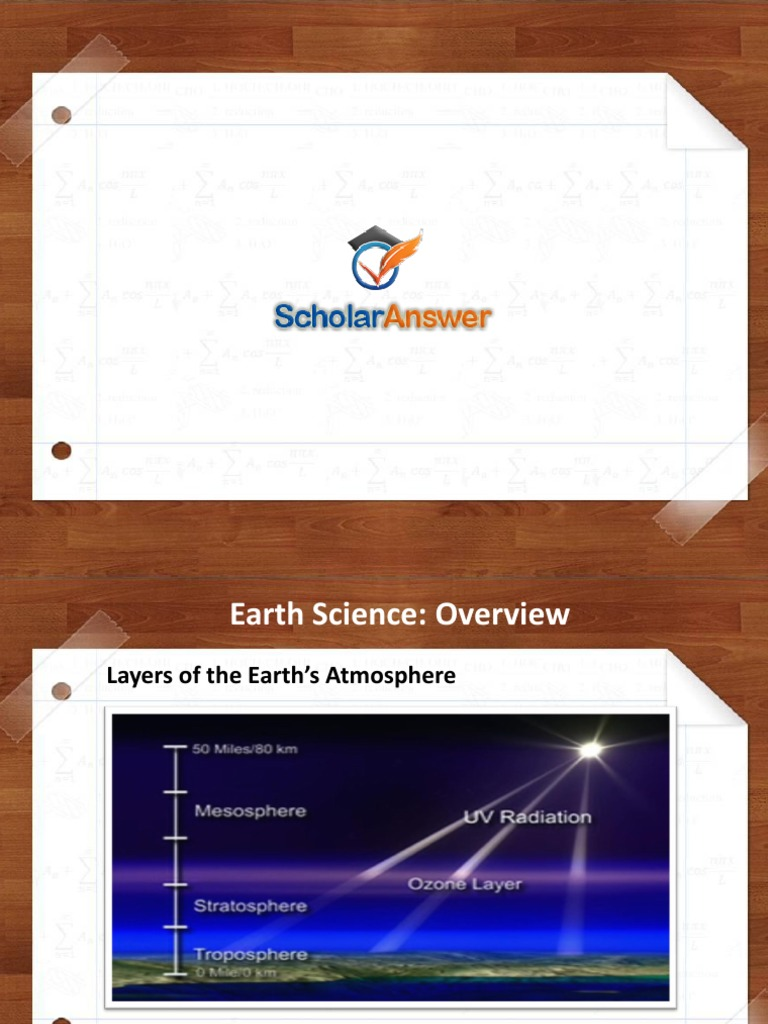 Homework help for earth science
