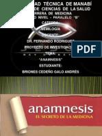 PROYECTO DE SEMIOLOGÍA-TEMA ANAMNESIS-ESTUDIANTE BRIONES CEDEÑO GALO-CURSO 4TO B