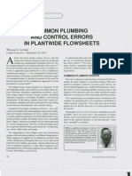 ChemEngEdu Common Plumbing and Control Errors in Plantwide Flowsheets W Luyben