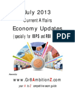 July 2013 Economy Updates - Gr8AmbitionZ