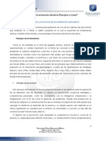 Principios y funciones de la orientación educativa