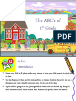ABCs of First Grade