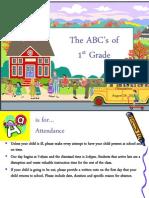 ABCs of First Grade